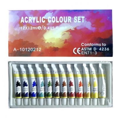 Акриловые краски для художественной росписи ногтей Acrylic Colour Set, 12 шт