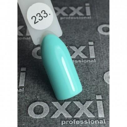 Гель - лак Oxxi №233 (светло-лазурный, пастель)