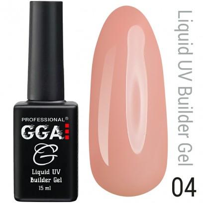 Жидкий гель для наращивания ногтей GGA Professional № 4