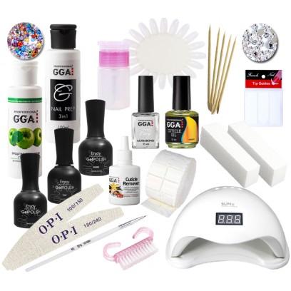 Набор для покрытия ногтей гель-лаком Enjoy Professional с LED лампой SuN 5.,48 Ватт