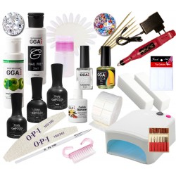 Набор для покрытия ногтей гель-лаком Enjoy Professional с УФ лампой 36 Ватт и фрезером
