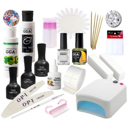 Набор для покрытия ногтей гель-лаком Enjoy Professional с УФ лампой 36 Ватт