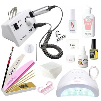 Стартовый набор для наращивания iGeL с лампой UV/LED SunOne и фрезером DM-211