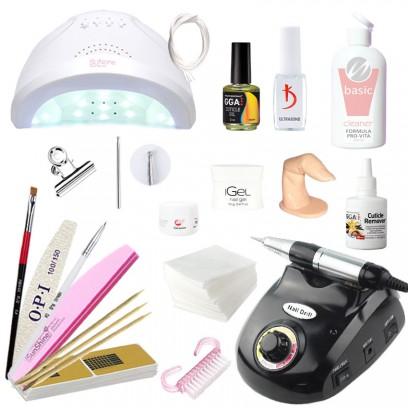 Стартовый набор для наращивания iGeL с лампой UV/LED Sun One и фрезером DM-208