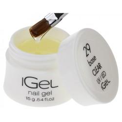 Базовый гель для наращивания ногтей iGel Crystal Clear №29 15 гр