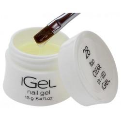 Финиш гель для наращивания ногтей iGel Crystal Clear №01 15 гр
