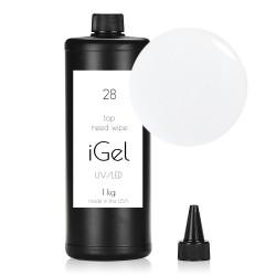 Финиш гель для наращивания ногтей iGel Crystal Clear №28 1 кг