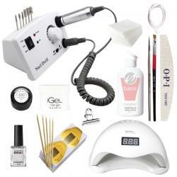 Маникюрный набор для наращивания ногтей с LED лампой San5 и фрезером DM-211
